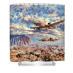 Rough Terrain Shower Curtain