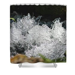 Shower Curtain featuring the photograph Rough Water Splash by Raphael Lopez