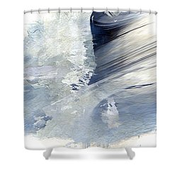 Rough Yet Peaceful Shower Curtain