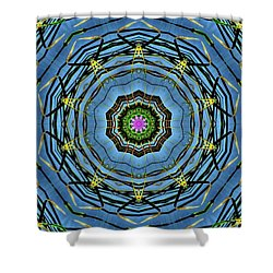 Round And Round  Shower Curtain by Christy Ricafrente
