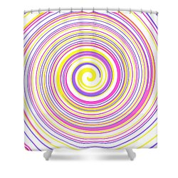 Round And Round Shower Curtain