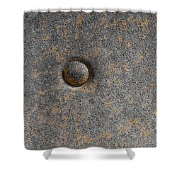 Round And Rusty Shower Curtain by Sandra Church