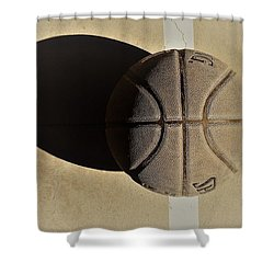 Round Ball And Shadow Shower Curtain