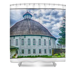 Round Barn, Adams County Shower Curtain by R Thomas Berner