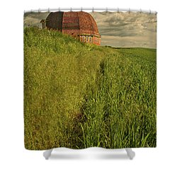 Round Barn Shower Curtain