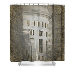 Round In A Square World Shower Curtain