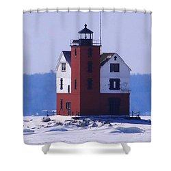 Round Island 3 Shower Curtain