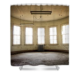 Round Room Shower Curtain by Randall Cogle