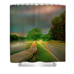Shower Curtain featuring the photograph Round The Bend by Diana Angstadt