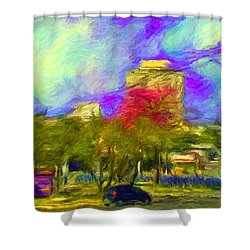 Roundabout In Franca Do Imperador  Shower Curtain