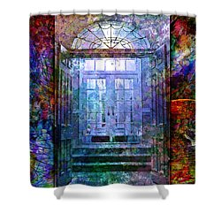 Rounded Doors Shower Curtain by Barbara Berney