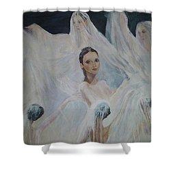 Roundelay. Ballet Dancers Shower Curtain