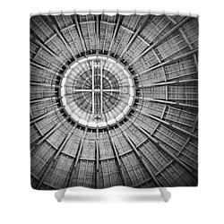 Roundhouse Architecture - Black And White Shower Curtain
