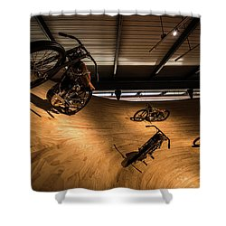 Rounding The Bend Shower Curtain by Randy Scherkenbach