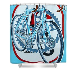 Rourke Bicycle Shower Curtain