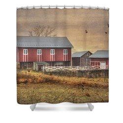 Route 419 Barn Shower Curtain by Lori Deiter