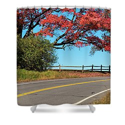 Route 5 Color Shower Curtain