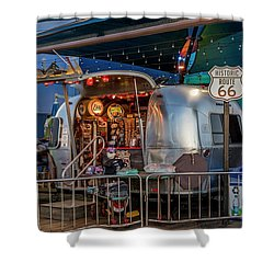 Route 66 And Airstream On Tha Pier Shower Curtain