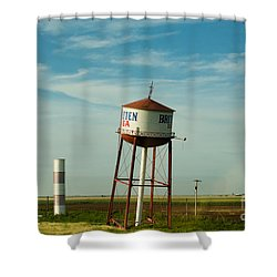 Route 66 And The Leaning Water Tower Of Britten Shower Curtain