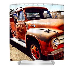 Route 66 Shower Curtain by Mark David Gerson