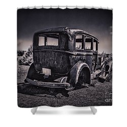 Route 66 Remembered  ... Shower Curtain by Chuck Caramella