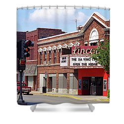 Route 66 Theater Shower Curtain by Frank Romeo