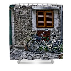 Rovinj Bicycles Shower Curtain