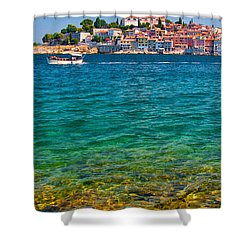 Rovinj Croatia Shower Curtain by Graham Hawcroft pixsellpix