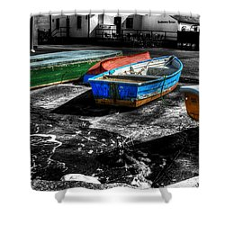Row Boats At Mudeford Shower Curtain