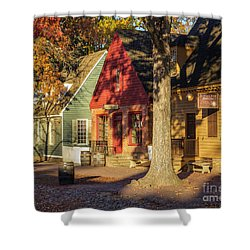 Row Houses Duke Of Gloucester Colonial Williamsburg Shower Curtain