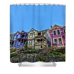 Row Houses Shower Curtain by Keith Allen
