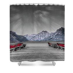 Row Row Shower Curtain