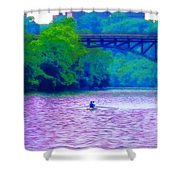 Row Row Row Your Boat Shower Curtain by Bill Cannon