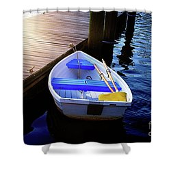 Rowboat At Sunset Shower Curtain