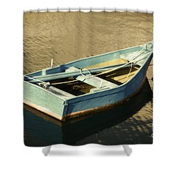 Rowboat At Twilight Shower Curtain by Mary Machare