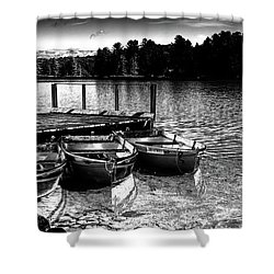 Shower Curtain featuring the photograph Rowboats At The Dock 2 by David Patterson