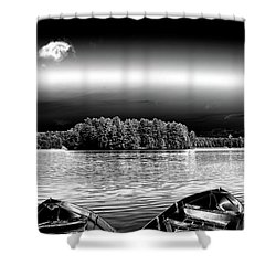 Shower Curtain featuring the photograph Rowboats At The Dock 3 by David Patterson