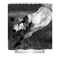 Rowdy Bucking Bull Shower Curtain