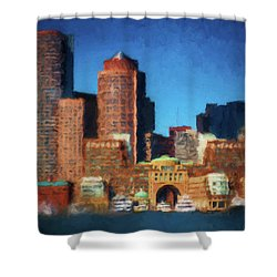 Rowes Wharf Boston Shower Curtain