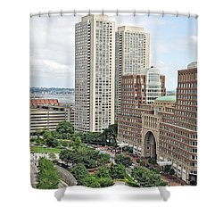 Rowes Wharf Shower Curtain