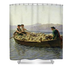 Rowing Boat Shower Curtain by Rosa Bonheur
