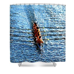 Rowing In Shower Curtain by David Lee Thompson
