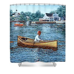 Rowing To Rockport Shower Curtain
