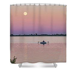 Rowing To The Moon Shower Curtain