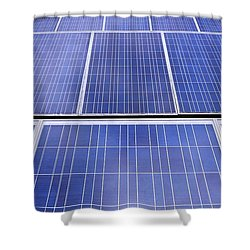 Shower Curtain featuring the photograph Rows Of Solar Panels by Yali Shi