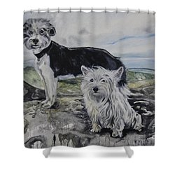 Roxie And Skye Shower Curtain
