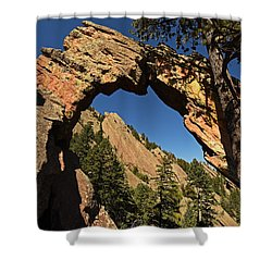 Royal Arch Trail Arch Boulder Colorado Shower Curtain