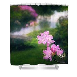 Royal Azaleas At Asticou Azalea Garden Shower Curtain