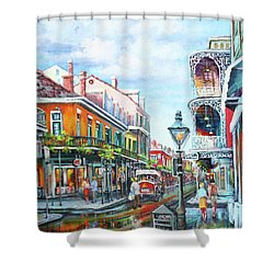 Royal Balconies Shower Curtain by Dianne Parks