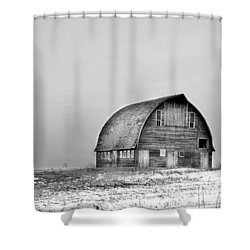 Royal Barn Bw Shower Curtain